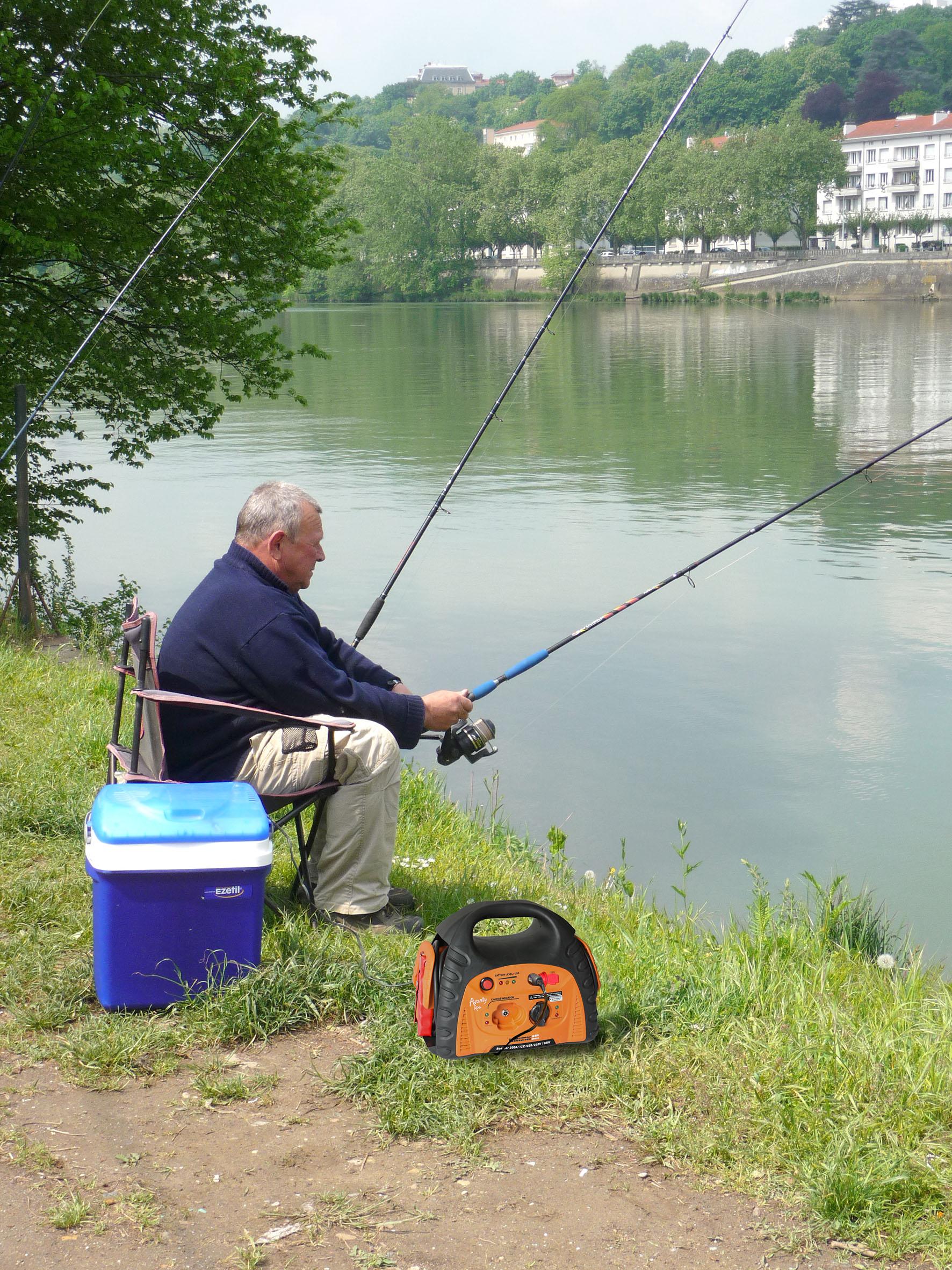 Stations energie pour la casse la pêche