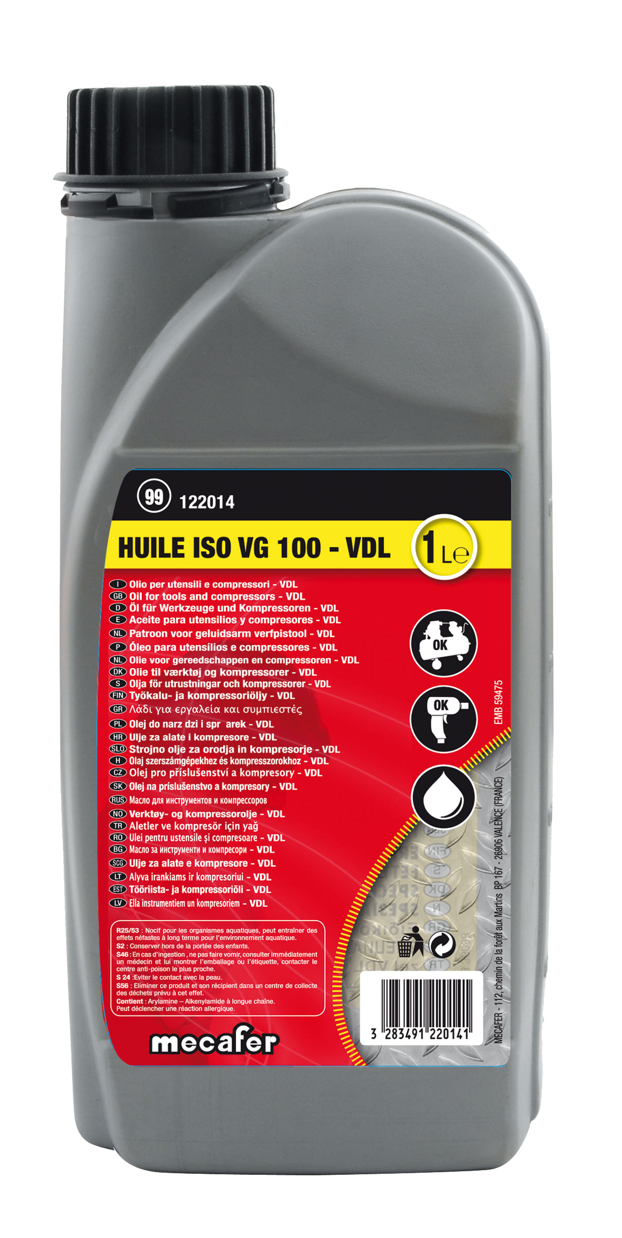 huile compresseur ISO VG100